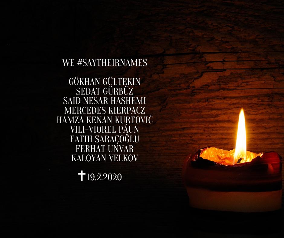 Wir trauern um die Opfer des Attentats von Hanau